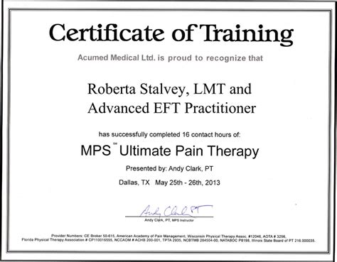therapy certification tlc dolphin neurostim microcurrent point stimulation mps