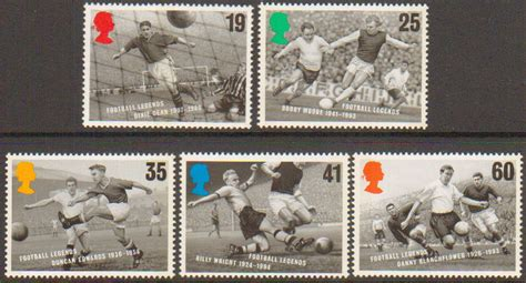 Great Britain 1996 European Football Chionship Sts Set sg1925 1929 1996 european football chionship st set