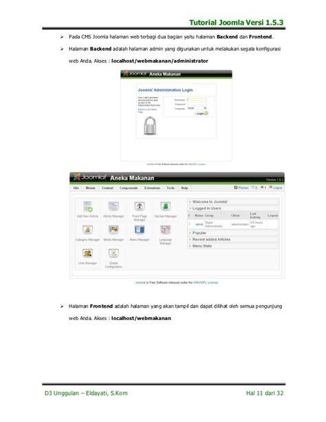 tutorial for joomla 3 3 tutorial joomla versi 1 5 3