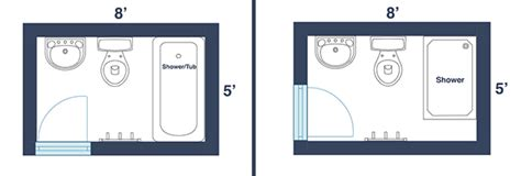 small bathroom dimensions 7 awesome layouts that will make your small bathroom more