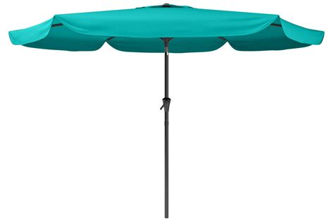 tilting patio umbrella in turquoise blue