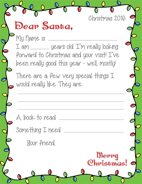 printable letter to santa pdf write to santa