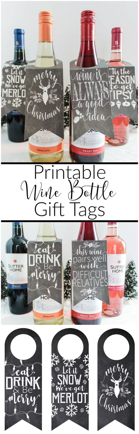 printable wine gift tags printable wine bottle gift tags domestically creative