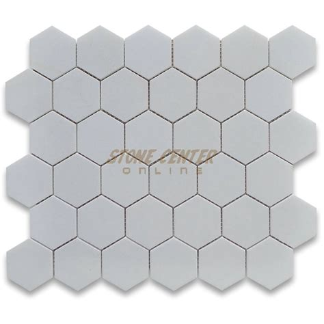 thassos white 2 inch hexagon mosaic tile polished marble from greece mosaics thassos white