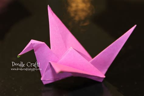 Flapping Crane Origami - doodlecraft origami flapping paper crane mobile