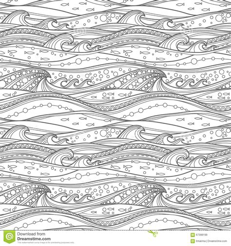 ocean background coloring page coloring page sea pattern stock vector illustration of
