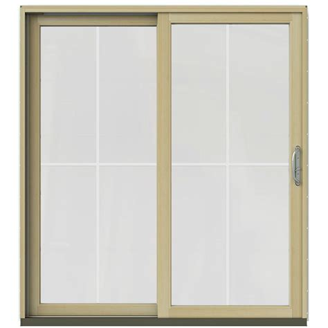 Jeld Wen 71 1 4 In X 79 1 2 In W 2500 Brilliant White Masterpiece Patio Door Reviews