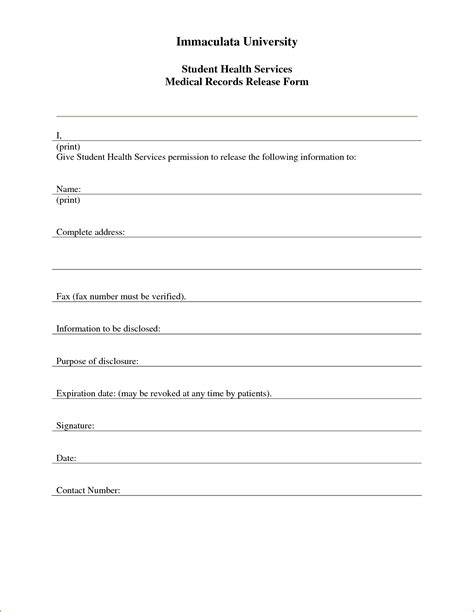 3 medical release form template printable receipt