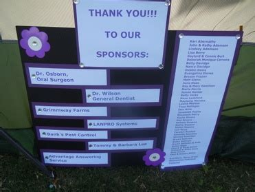 Thank You To Our Advertisers 2 by Thank You To Our Sponsors Community Service