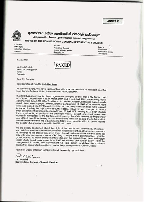 appointment letter format sri lanka addressing concerns of the international community
