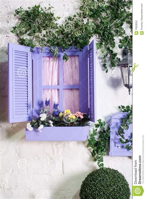 Small Window Plants Pretty Small Purple Window And Box With Flowers In An