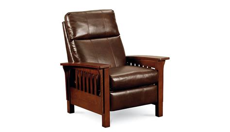 mission style recliner fabric mission high leg recliner by lane furniture with custom