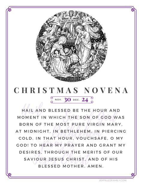 printable christmas novena christmas novena printables social media reminders