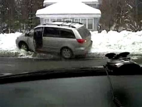 Minivan In Snow by Minivan Stuck In 5 Foot Snowbank