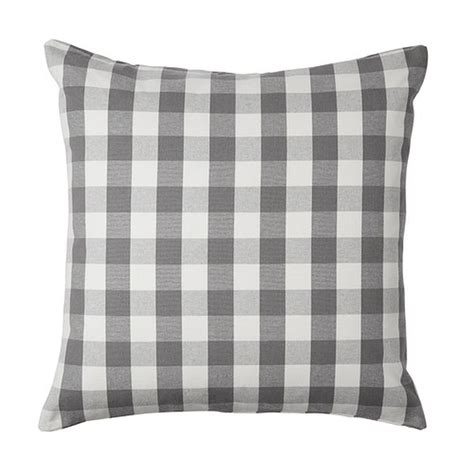 Cushion Covers Ikea by Ikea Smanate Cushion Cover Pillow Sham Gray White Checkered 20 Quot X 20 Quot Sm 197 Nate Grey