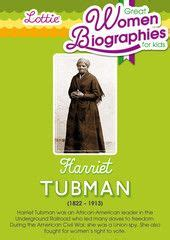 harriet tubman biography for students biographies of great women for kids on pinterest great
