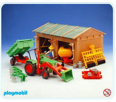 playmobil scheune bauanleitung playmobil set 3554 shed tools tractor klickypedia