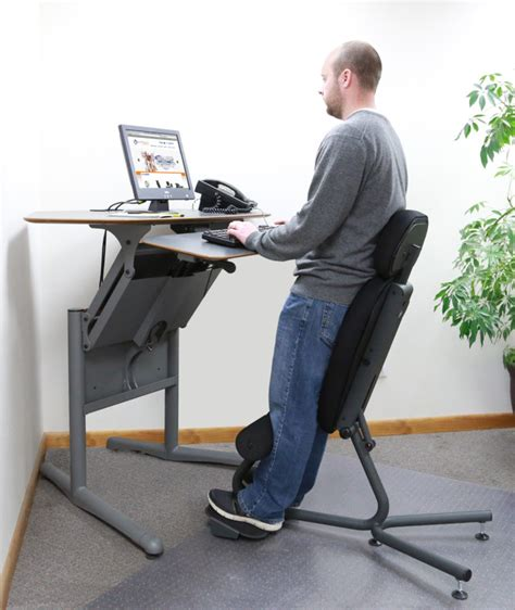 Standing Desk Office Furniture Standing Desk And Ergonomic Upholstered Chair The Most Ergonomic Standing