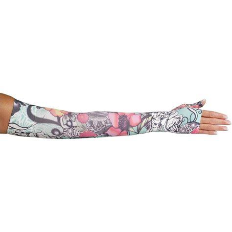 tattoo arm compression sleeve lymphedivas tattoo blossom compression arm sleeve and gauntlet