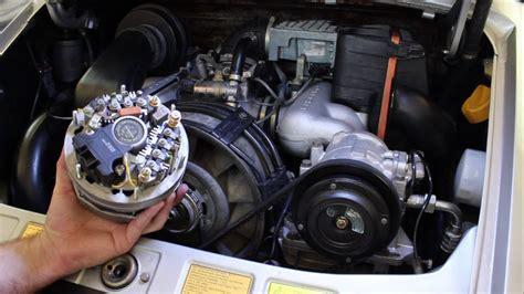 porsche  alternator replacement diy youtube