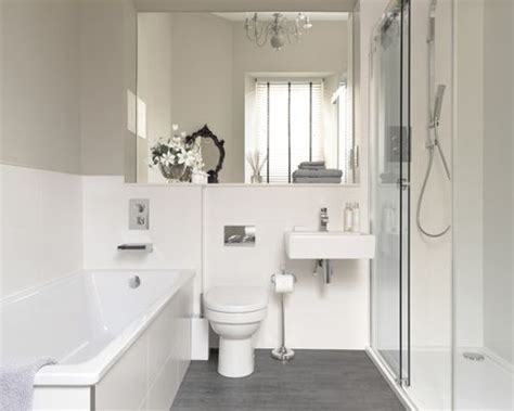 white and grey bathroom houzz