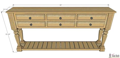 Grand Island Console Table Her Tool Belt How To Build A Sofa Table