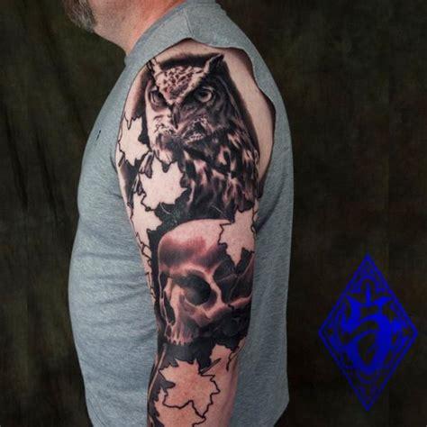 owl tattoos on arm arm realistic owl by plurabella