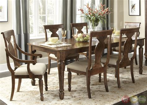 furniture dining room table set rustic cherry rectangular table formal dining room set