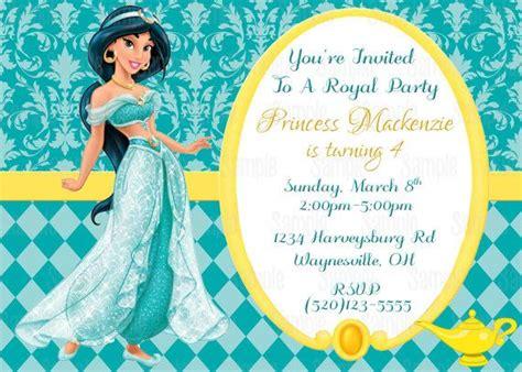 printable princess jasmine thank you cards printable princess jasmine aladdin birthday party