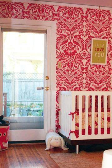pink damask wallpaper baby s room babies rooms