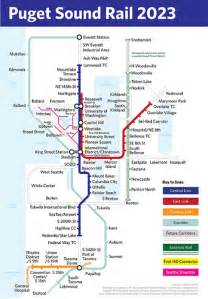 Link Light Rail Seattle Map by Puget Sound Rail 2023 To Celebrate The Approval Of Sound