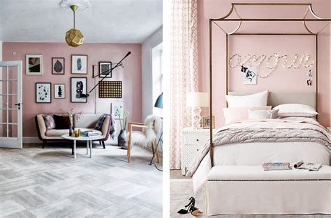 Dusty Pink Living Room by Shockingly Pink Paint Schemes Livinghouse