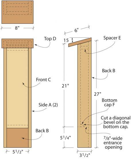 plans for building a bat house build a bat house