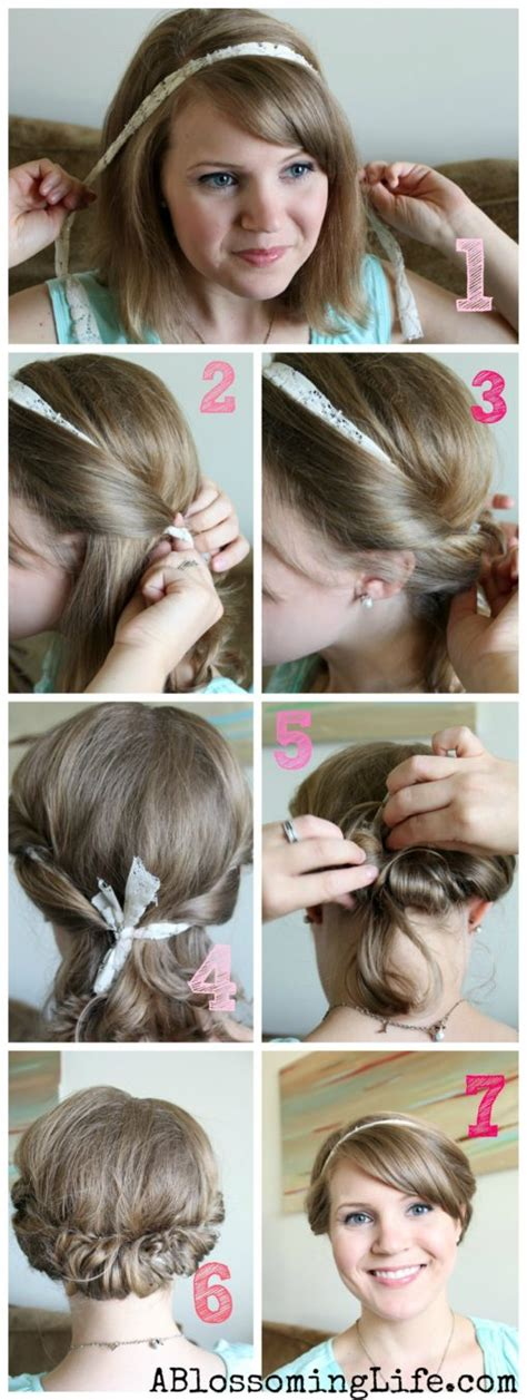 easy twisted updo for or hair a blossoming
