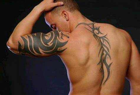 Tribal Tattoo On Back Men Cool Back Tribal Tattoos For