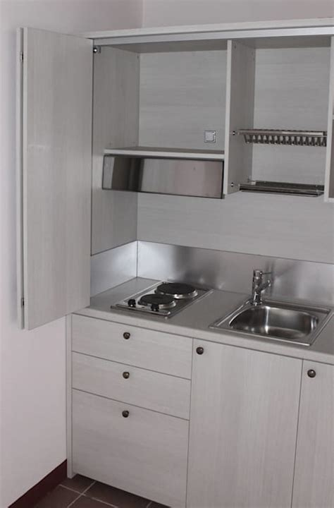 cucina agriturismo mini cucina a scomparsa monoblocco cm 165 con ante mini