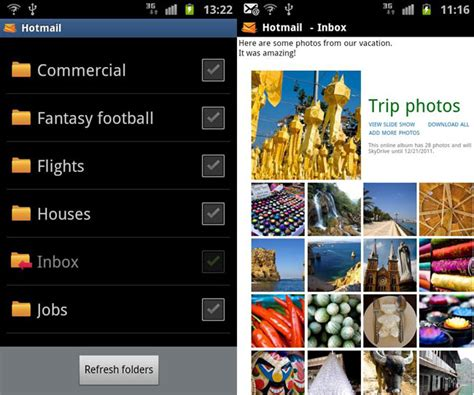 best hotmail app microsoft releases official hotmail for android app