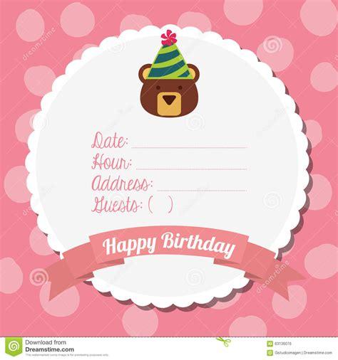 happy birthday design on thermocol happy birthday card design stock vector image 63136076
