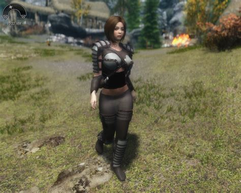 sevenbase armor mods minstrel leather armor for sevenbase and cbbe wip at