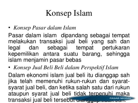 Ekonomi Islam Sejah Konsep Instrumen Sejarah Pasar investasi dan pasar modal dalam perspektif islam