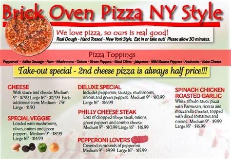 Pizza Description by Weekly Specials