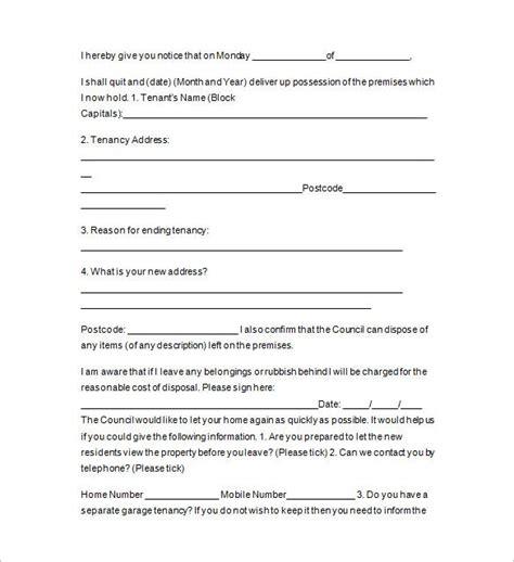landlord notice tenancy letter template uk matah