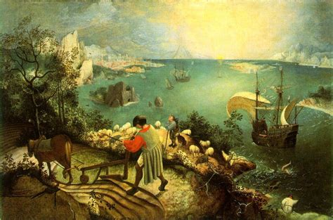 Landscape With The Fall Of Icarus Painting Pieter Bruegel