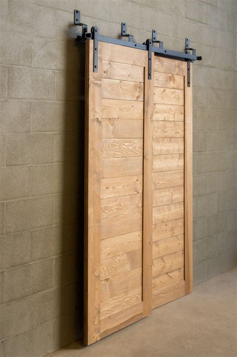 Bypass Barn Door Track Bypass Sliding Barn Door For Tight Spaces 625 Hardware Nw Artisan Hardware Doors