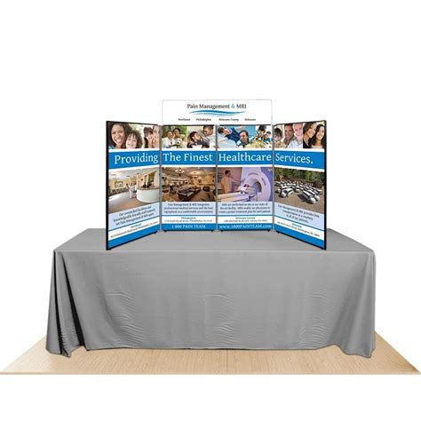 4 panel reversible table top display board by affordable