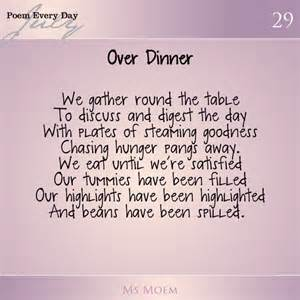 over dinner daily poem project day 29 ms moem poems