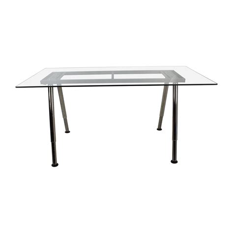 Glass Trestle Dining Table 1x1 Trestle Glass Dining Table Another Brand Helena Source