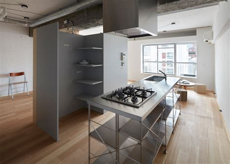 tiny japanese apartment toyko apartment renovation embraces unfinished style
