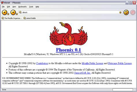 netscape theme firefox milestone phoenix 0 1 released first version of firefox