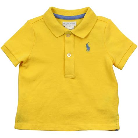 Rpl2003d Setelan Polo Baby Boy Sale ralph yellow classic baby polo t shirt yellow baby boy from designer childrenswear uk